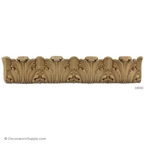 Acanthus Leaf Linear - Ital. Ren. 3H - 1/2Relief-woodwork-furniture-lineal-ornament-Decorators Supply