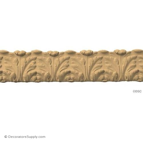 Acanthus Leaf Linear - Louis XVI 2 1/2H - 3/8Relief-woodwork-furniture-lineal-ornament-Decorators Supply