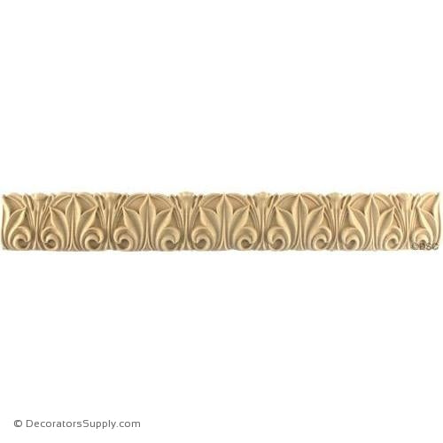 Acanthus Leaf Linear - Roman 1 7/8H - 3/8Relief-woodwork-furniture-lineal-ornament-Decorators Supply