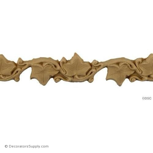 Ivy Vine Linear - Art. Nouv. 3/4H - 1/8Relief-moulding-for-furniture-woodwork-Decorators Supply