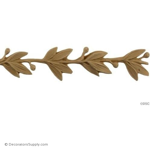 Laurel Leaf Linear - Art. Nouv. 1 1/4H - 3/16Relief-woodwork-furniture-lineal-ornament-Decorators Supply