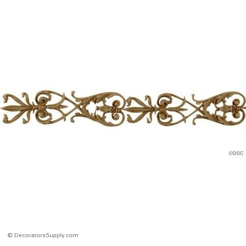 Acanthus Leaf Vine Linear - Ital. Ren. 1 3/8H - 1/4Relief-woodwork-furniture-lineal-ornament-Decorators Supply