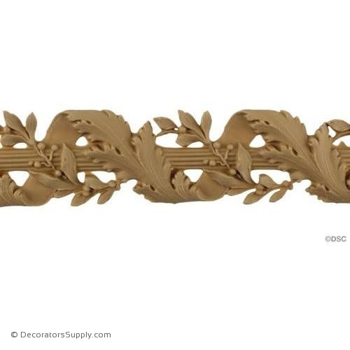 Vine and Ribbon Rope - Louis XVI 2 1/8H - 1/4Relief-moulding-for-furniture-woodwork-Decorators Supply