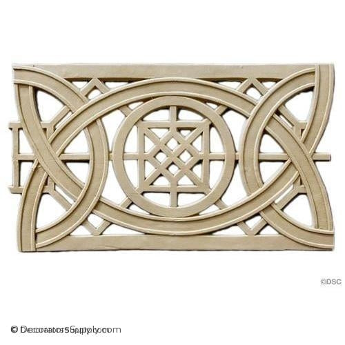 Geometric Knot - Sullivan 6 1/2H - 3/16Relief-moulding-for-furniture-woodwork-Decorators Supply