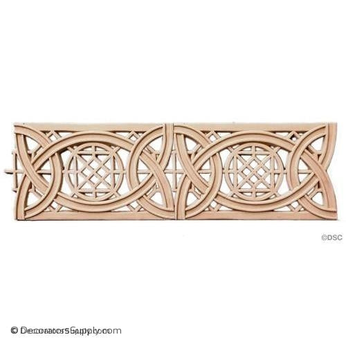 Geometric Knot - Sullivan 4 3/4H - 5/16Relief-moulding-for-furniture-woodwork-Decorators Supply