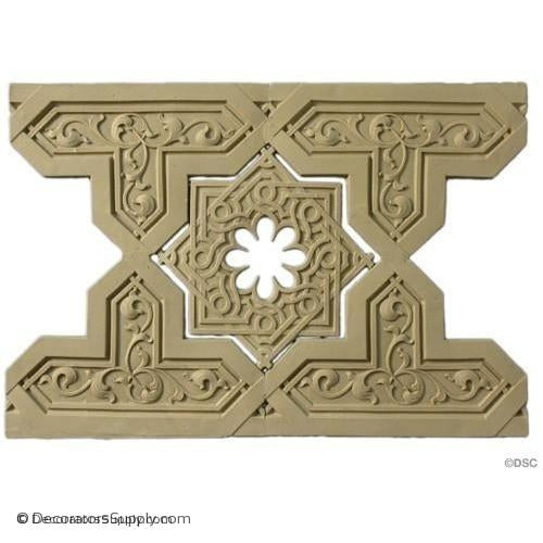 Linear - Moorish 9 5/8H - 3/16Relief-moulding-for-furniture-woodwork-Decorators Supply