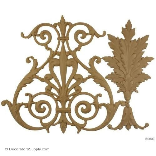 Acanthus and Scroll Linear - Empire 12H - 1/4Relief-moulding-for-woodwork-furniture-Decorators Supply