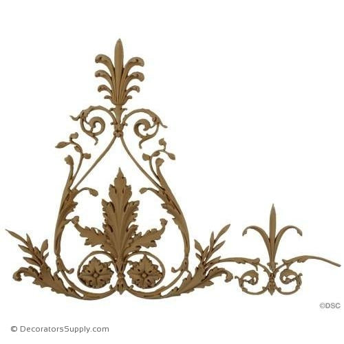 Acanthus and Scroll Linear - Empire 12 1/2H - 5/16Relief-moulding-for-woodwork-furniture-Decorators Supply