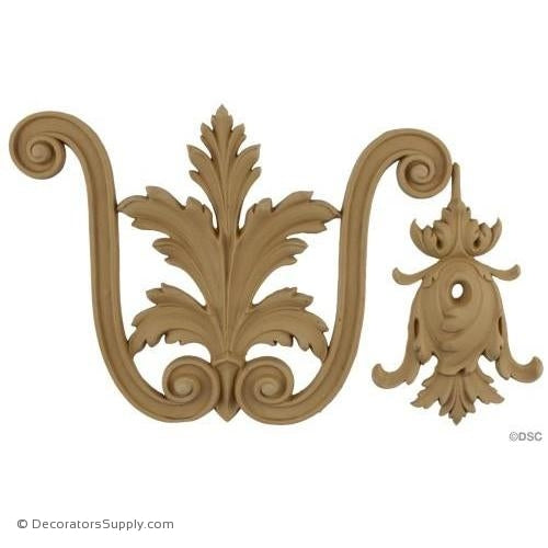 Acanthus and Scroll Linear - Ital. Ren. 8H - 1/2Relief-moulding-for-woodwork-furniture-Decorators Supply