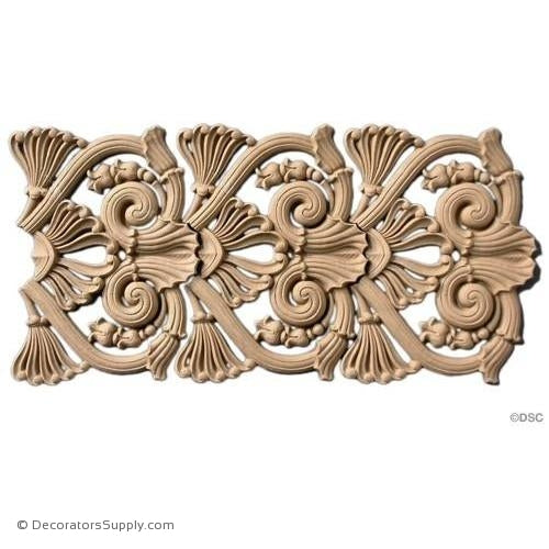 Palmette-Greek 6 7/8H - 3/8Relief-moulding-for-woodwork-furniture-Decorators Supply