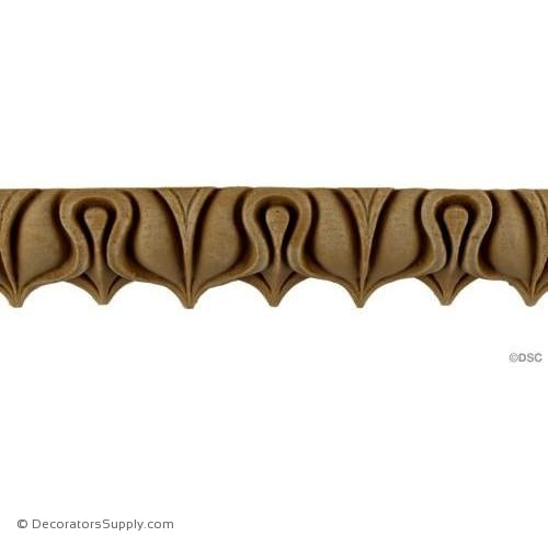 Lambs Tongue-Roman 1 1/2H - 1 3/16Relief-moulding-furniture-woodwork-Decorators Supply