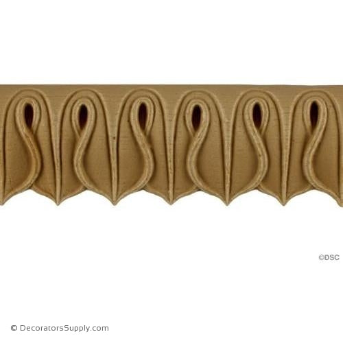 Lambs Tongue-Greek 2 1/16H - 1/2Relief-moulding-furniture-woodwork-Decorators Supply