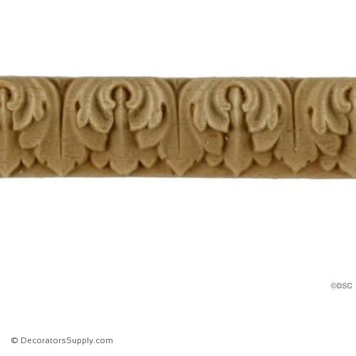 Lambs Tongue-Empire 5/8H - 1/8Relief-moulding-furniture-woodwork-Decorators Supply