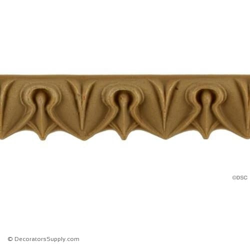 Lambs Tongue-Classic 13/16H - 5/16Relief-moulding-furniture-woodwork-Decorators Supply