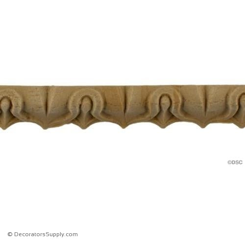 Lambs Tongue-Roman 11/16H - 5/8Relief-moulding-furniture-woodwork-Decorators Supply