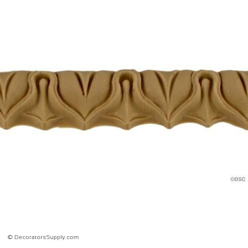 Lambs Tongue-Classic 9/16H - 9/16Relief-moulding-furniture-woodwork-Decorators Supply