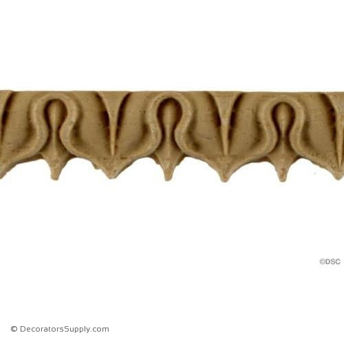 Lambs Tongue-Roman 3/4H - 7/16Relief-moulding-furniture-woodwork-Decorators Supply