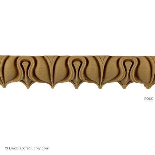 Lambs Tongue-Roman 1 3/4H - 1/38Relief-moulding-furniture-woodwork-Decorators Supply