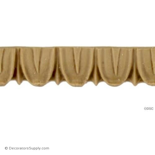 Lambs Tongue-Classic 1/2H - 5/16Relief-moulding-furniture-woodwork-Decorators Supply