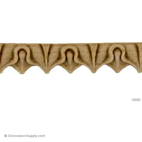 Lambs Tongue-Classic 9/16H - 5/16Relief-moulding-furniture-woodwork-Decorators Supply