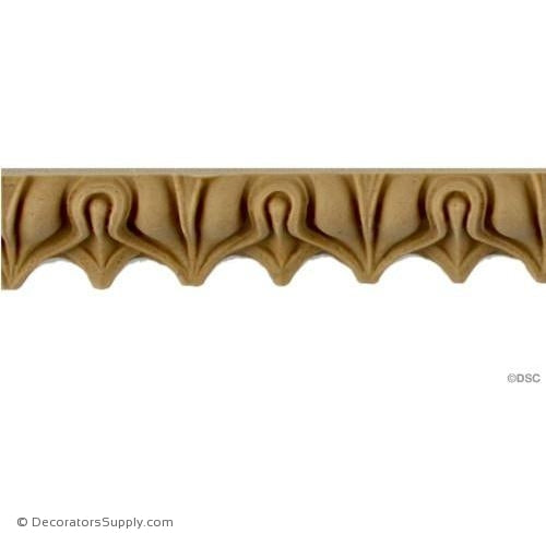Lambs Tongue-Roman 9/16H - 3/8Relief-moulding-furniture-woodwork-Decorators Supply