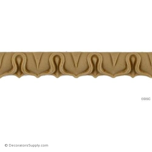 Lambs Tongue-Roman 3/8H - 7/16Relief-moulding-furniture-woodwork-Decorators Supply