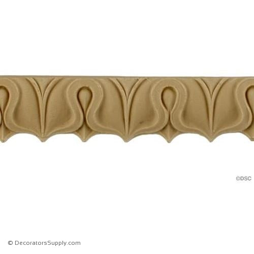Lambs Tongue-Roman 1H - 1/4Relief-moulding-furniture-woodwork-Decorators Supply