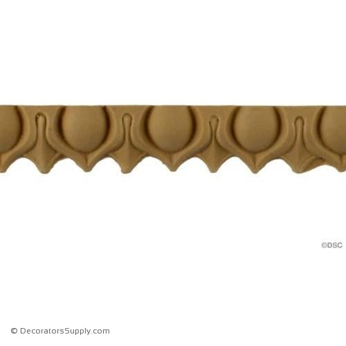 Lambs Tongue-Ren. 7/8H - 5/16Relief-moulding-furniture-woodwork-Decorators Supply