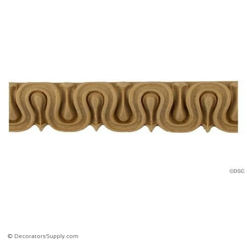 Lambs Tongue-Roman 1 1/4H - 1/2Relief-moulding-furniture-woodwork-Decorators Supply