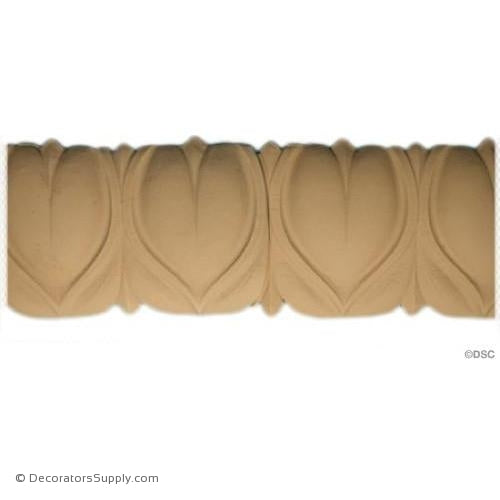 Lambs Tongue-Roman 2 7/8H - 1/4Relief-moulding-furniture-woodwork-Decorators Supply