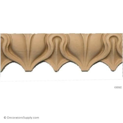 Lambs Tongue-Roman 1 3/4H - 13/16Relief-moulding-furniture-woodwork-Decorators Supply