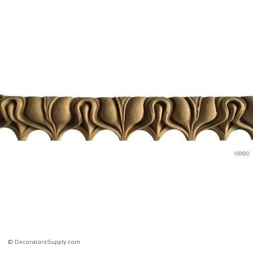 Lambs Tongue-Roman 1 1/8H - 13/16Relief-moulding-furniture-woodwork-Decorators Supply
