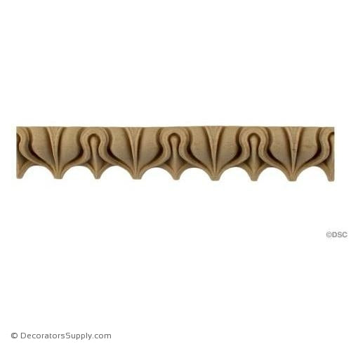 "Lambs Tongue-Roman 7/8H - 5/8"" Relief-moulding-furniture-woodwork-Decorators Supply"