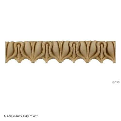 Lambs Tongue-Roman 3/4H - 9/16Relief-moulding-furniture-woodwork-Decorators Supply