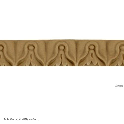 Lambs Tongue-Louis XVI 3/4H - 1/4Relief-moulding-furniture-woodwork-Decorators Supply