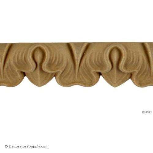 Lambs Tongue-French 1H - 7/16Relief-moulding-furniture-woodwork-Decorators Supply