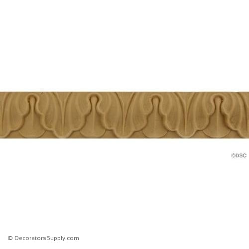 Lambs Tongue-Roman 1 3/16H - 1/4Relief-moulding-furniture-woodwork-Decorators Supply