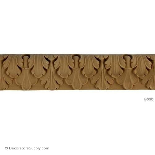 Lambs Tongue-French 2H - 3/4Relief-moulding-furniture-woodwork-Decorators Supply