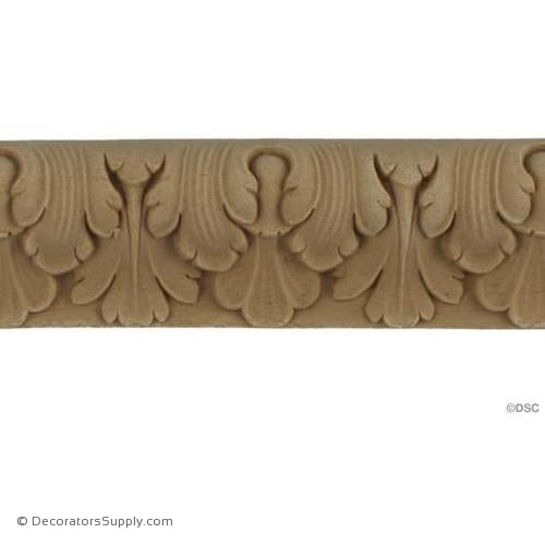 Lambs Tongue-French 1 1/2H - 9/16Relief-moulding-furniture-woodwork-Decorators Supply