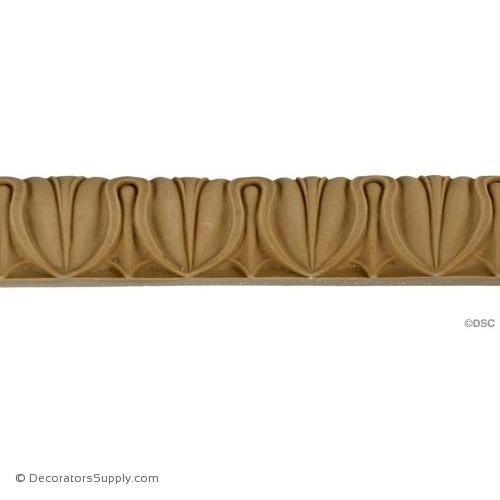 Lambs Tongue-Roman 1 1/4H - 7/8Relief-moulding-furniture-woodwork-Decorators Supply