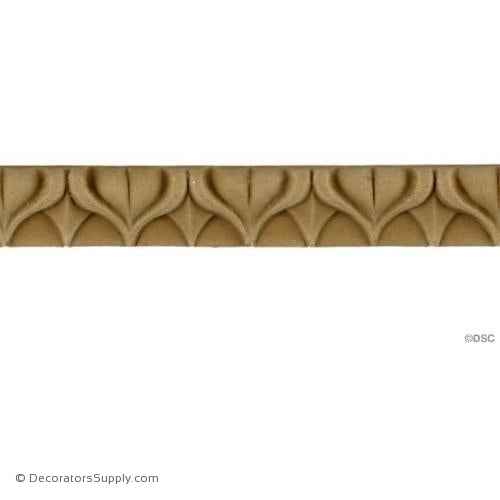 Lambs Tongue-Roman 1/2H - 5/16Relief-moulding-furniture-woodwork-Decorators Supply
