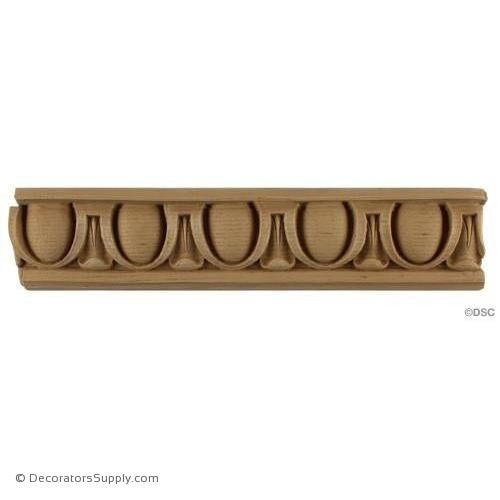 Egg and Dart-Roman 2 5/8H - 5/8Relief-woodwork-furniture moulding-Decorators Supply