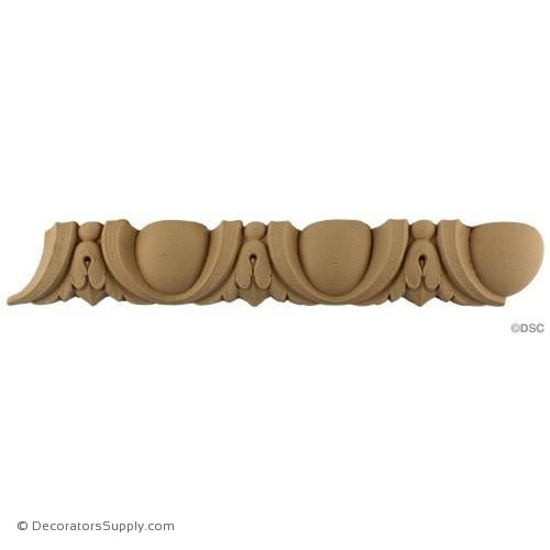 Egg and Dart-Roman 1 5/8H - 1 1/2Relief-woodwork-furniture moulding-Decorators Supply