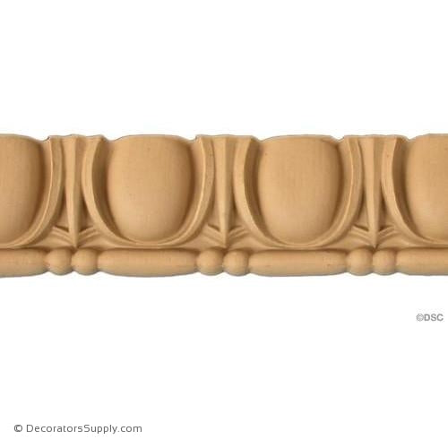 Egg and Dart-Roman 2 1/4H - 3/4Relief-woodwork-furniture moulding-Decorators Supply