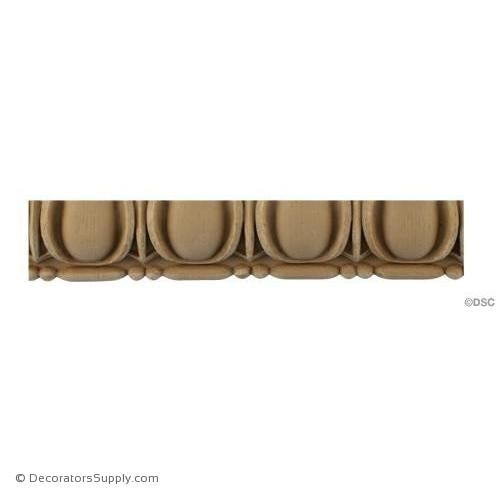 Egg and Dart-Roman 1 3/4H - 11/16Relief-woodwork-furniture moulding-Decorators Supply