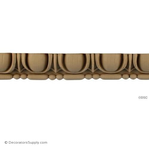 Egg and Dart-Roman 1 3/8H - 11/16Relief-woodwork-furniture moulding-Decorators Supply