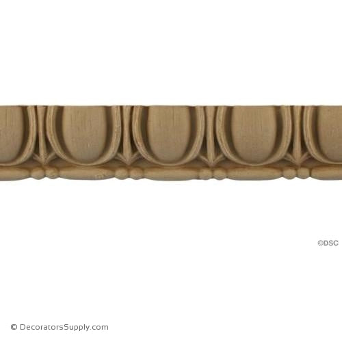 Egg and Dart-Roman 1 1/8H - 1/2 Relief-woodwork-furniture moulding-Decorators Supply