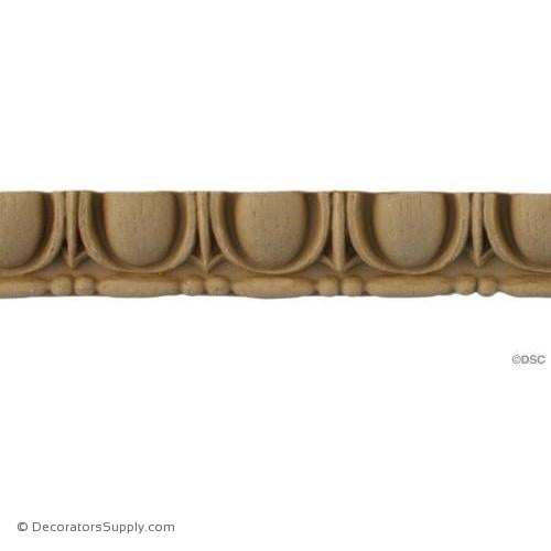 "Egg and Dart-Roman 3/4"" H - 7/16"" Relief-woodwork-furniture moulding-Decorators Supply"