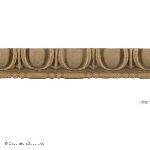 Egg and Dart-Roman 7/16H - 1/4Relief-woodwork-furniture moulding-Decorators Supply
