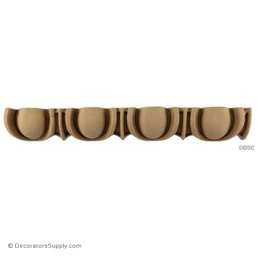 Egg and Dart-Roman 1 3/4H - 1 5/16Relief-woodwork-furniture moulding-Decorators Supply